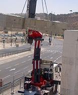 פירוק גשר מלחה ירושלים | ניסור בטון | מ. סעדון קידוח בטון בע